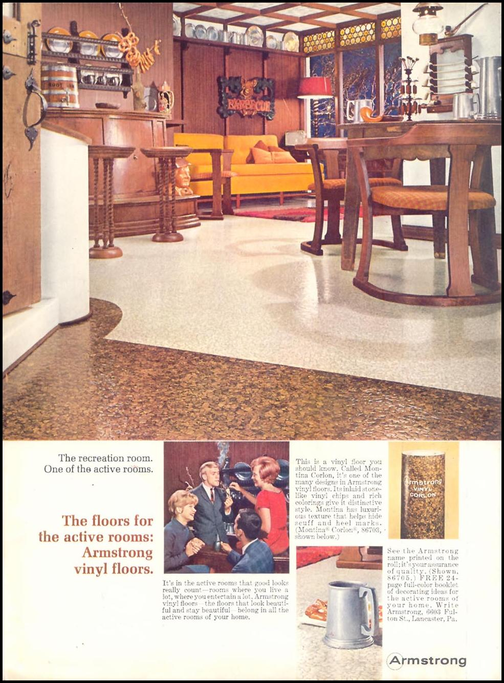ARMSTRONG VINYL FLOORS TIME 03/11/1966 INSIDE FRONT