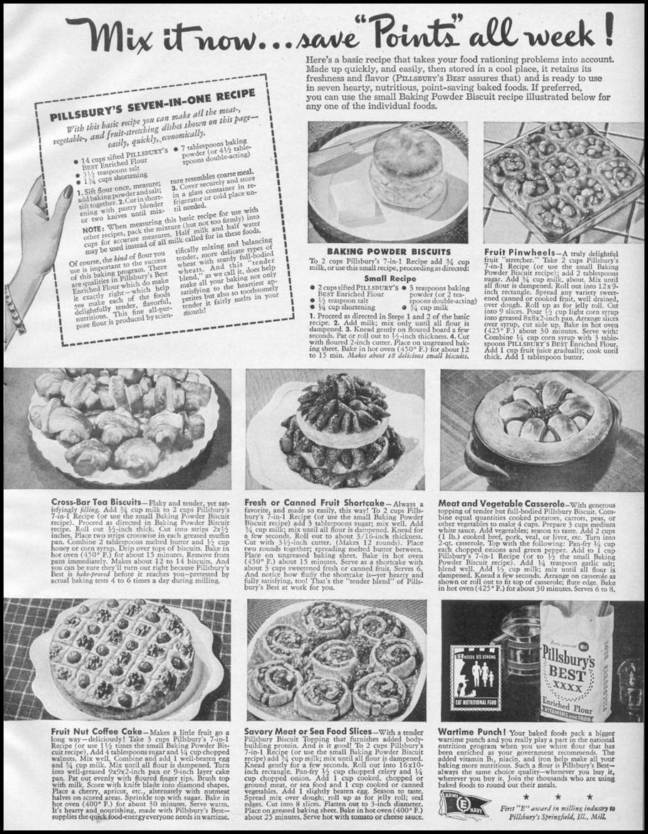 PILLSBURY'S BEST ENRICHED FLOUR WOMAN'S DAY 05/01/1943 p. 53