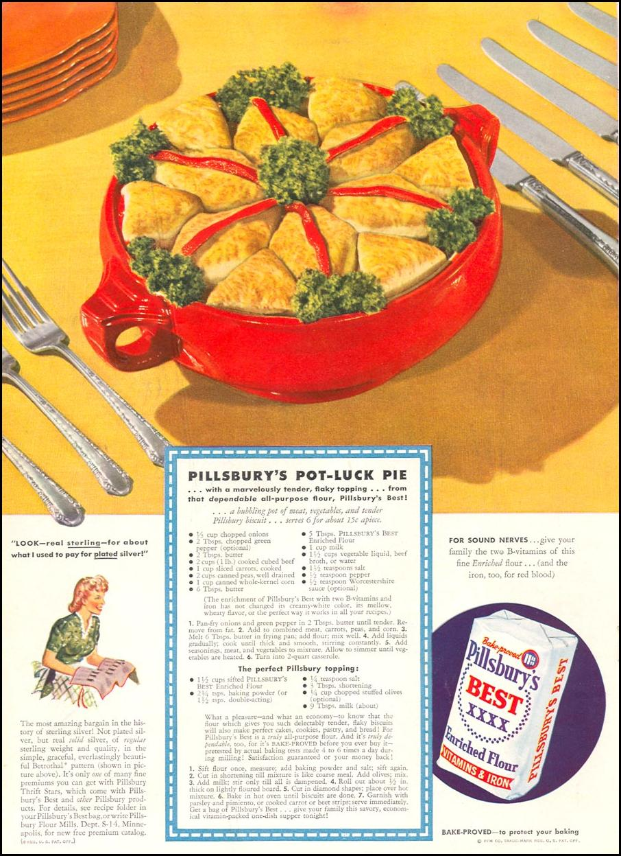PILLSBURY'S BEST ENRICHED FLOUR WOMAN'S DAY 09/01/1942 INSIDE FRONT