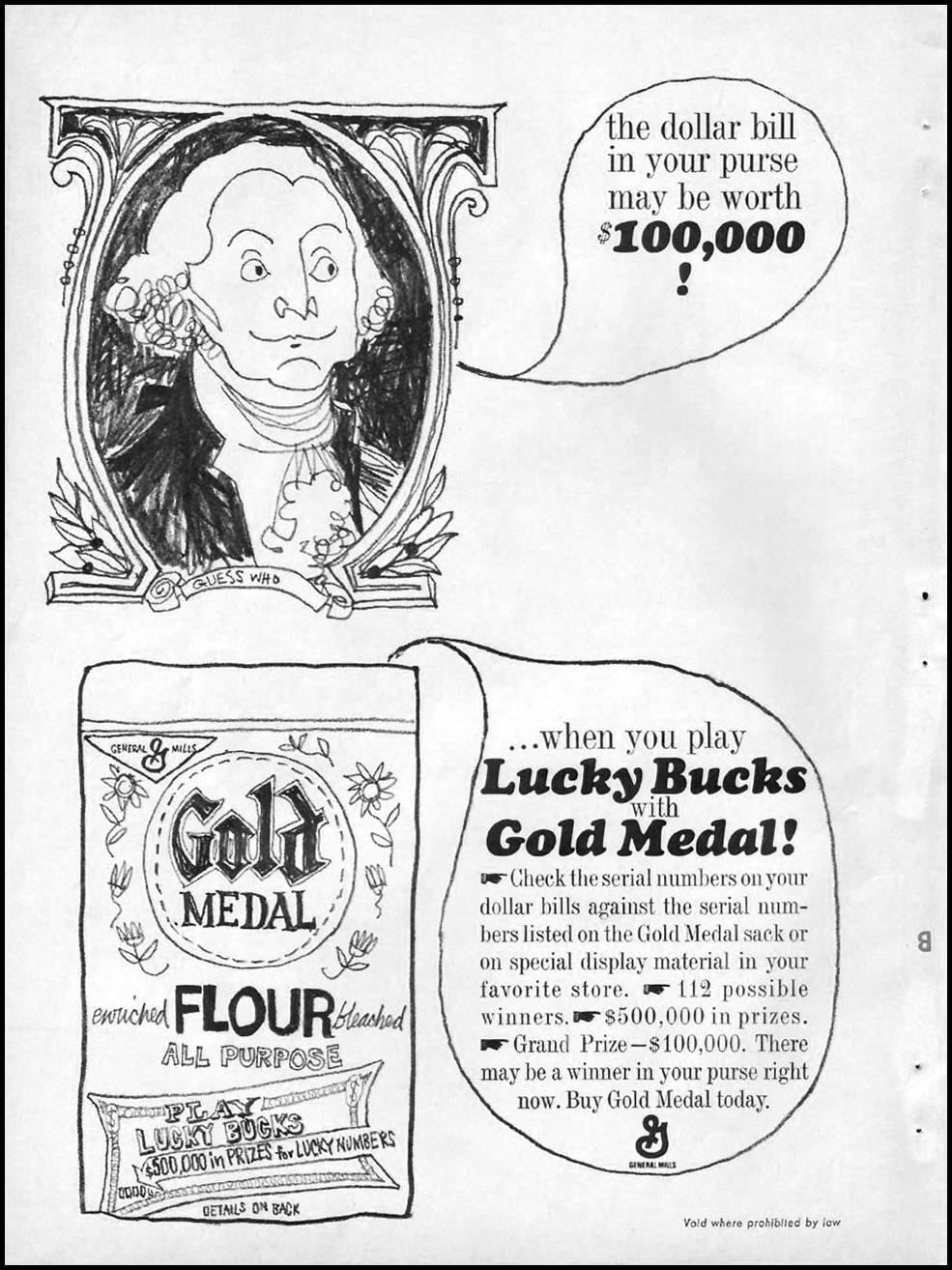 GOLD MEDAL FLOUR GOOD HOUSEKEEPING 10/01/1965 p. 24