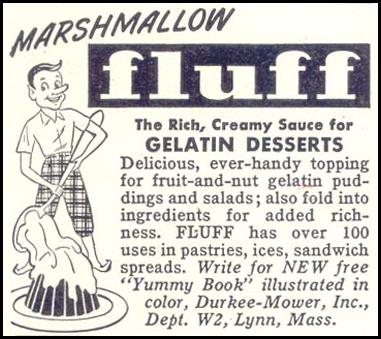 MARSHMALLOW FLUFF WOMAN'S DAY 02/01/1950 p. 156