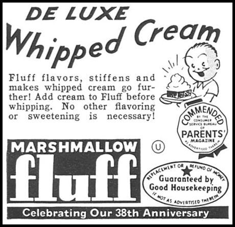 MARSHMALLOW FLUFF WOMAN'S DAY 09/01/1955 p. 132