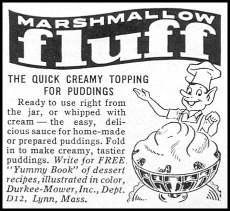 MARSHMALLOW FLUFF WOMAN'S DAY 12/01/1954 p. 138