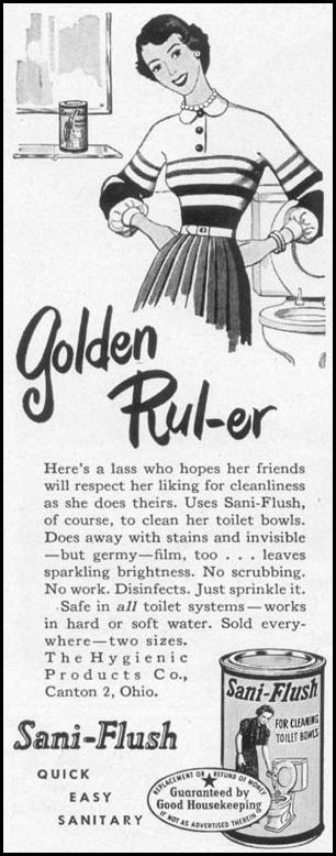 SANI-FLUSH TOILET BOWL CLEANER WOMAN'S DAY 10/01/1949 p. 130