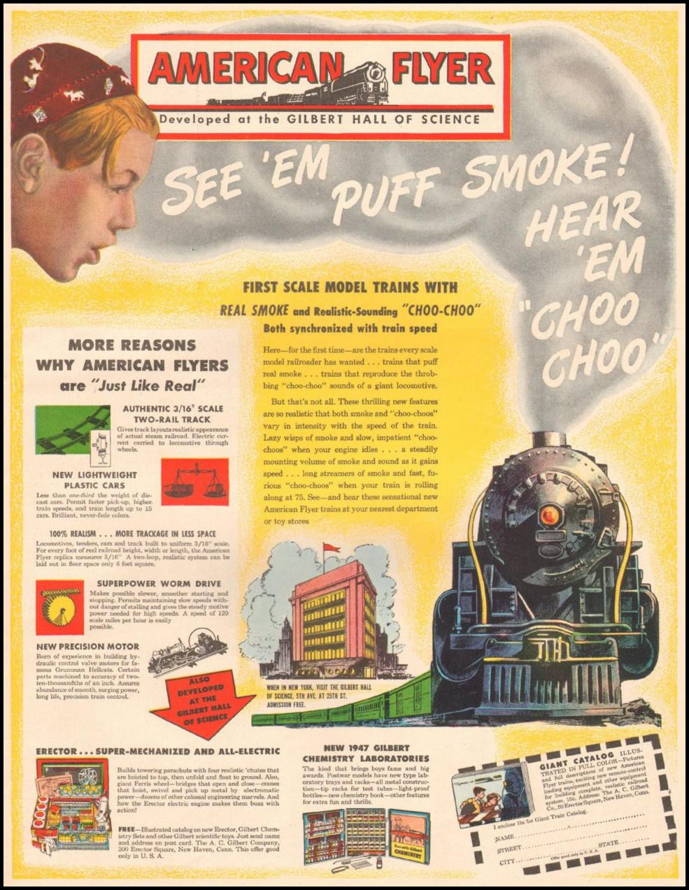 AMERICAN FLYER MODEL TRAINS LIFE 11/25/1946