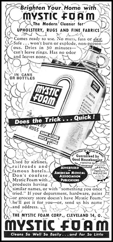 MYSTIC FOAM CLEANER WOMAN'S DAY 05/01/1946 p. 85