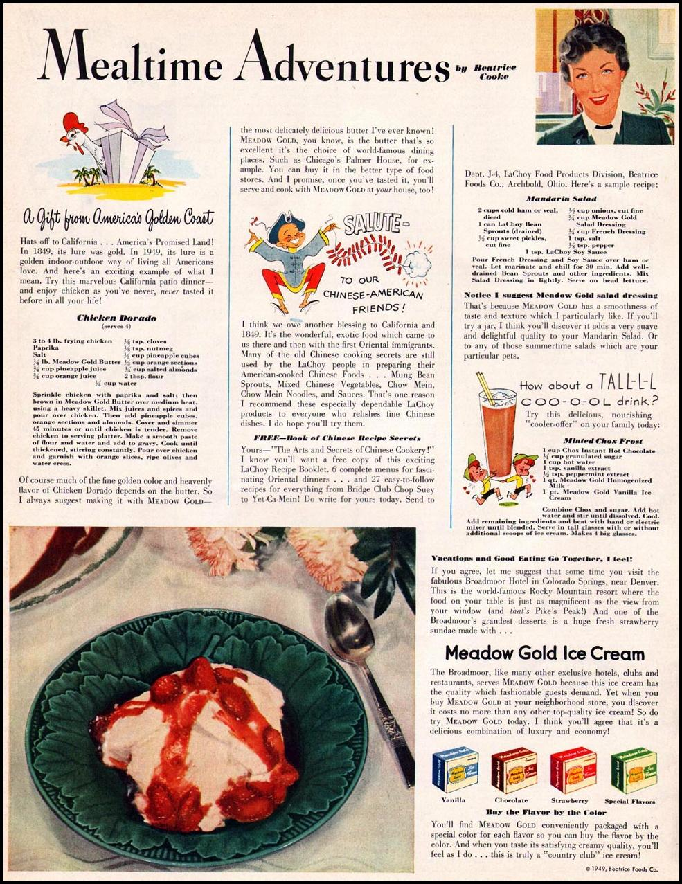 BEATRICE FOODS LADIES' HOME JOURNAL 07/01/1949 p. 136