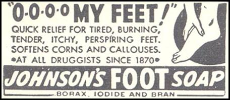 JOHNSON'S FOOT SOAP GOOD HOUSEKEEPING 07/01/1948 p. 230