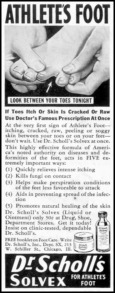DR. SCHOLL'S SOLVEX SATURDAY EVENING POST 05/19/1945 p. 84