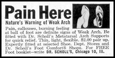 DR. SCHOLL'S ARCH SUPPORTS SATURDAY EVENING POST 08/15/1959 p. 83