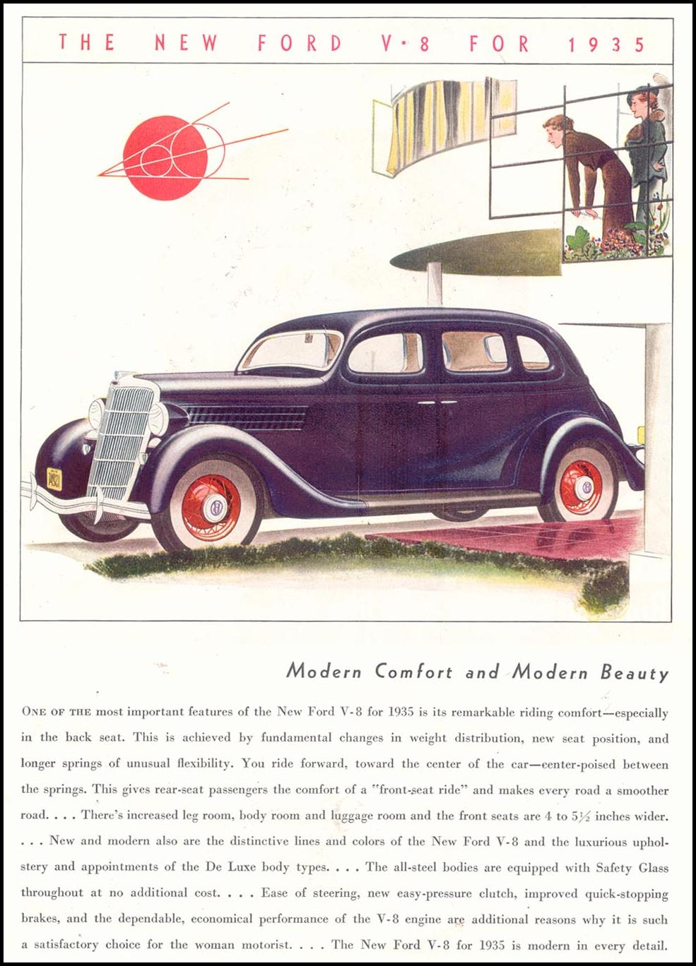 FORD AUTOMOBILES GOOD HOUSEKEEPING 03/01/1935