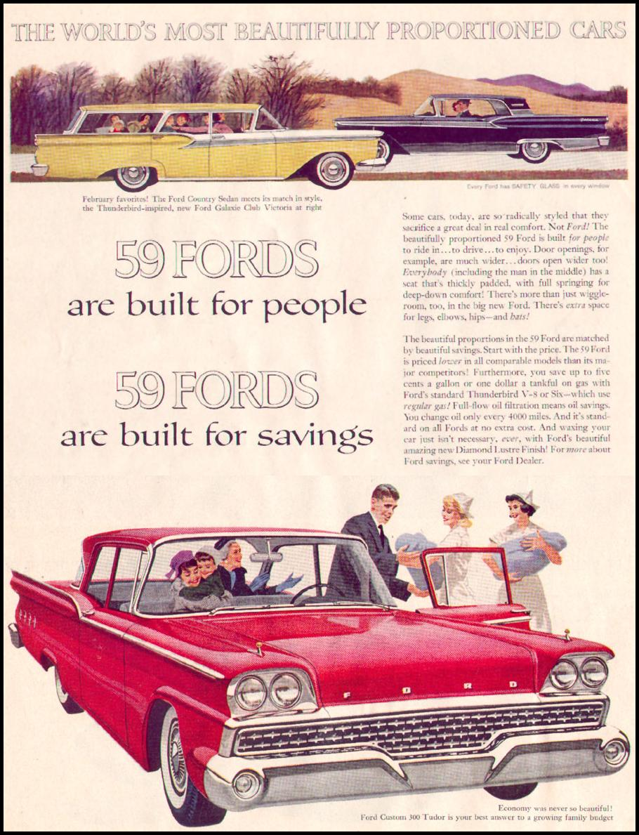 FORD AUTOMOBILES LIFE 02/09/1959 p. 70