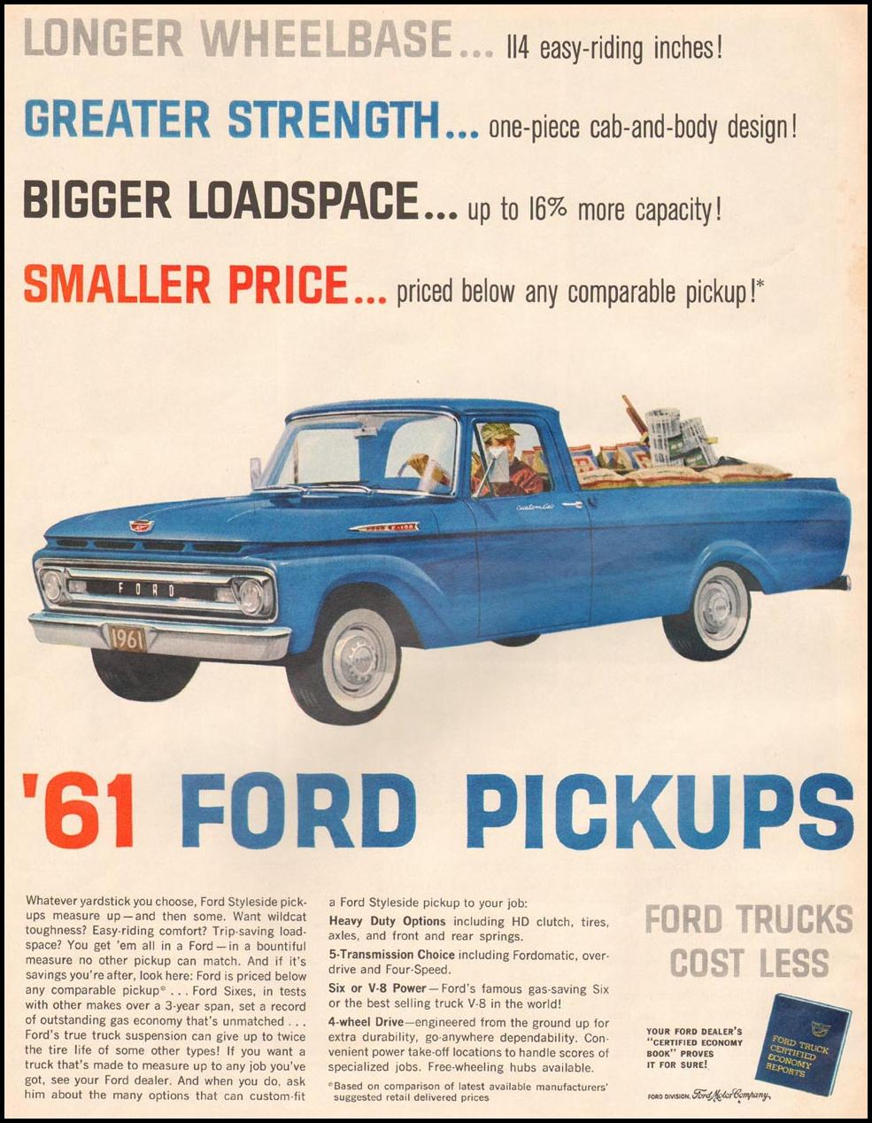 FORD AUTOMOBILES LIFE 03/31/1961 p. 9970