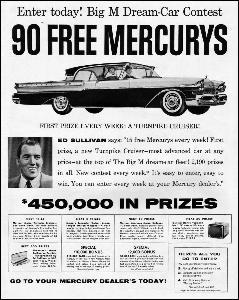 MERCURY AUTOMOBILES LIFE 04/01/1957 p. 59