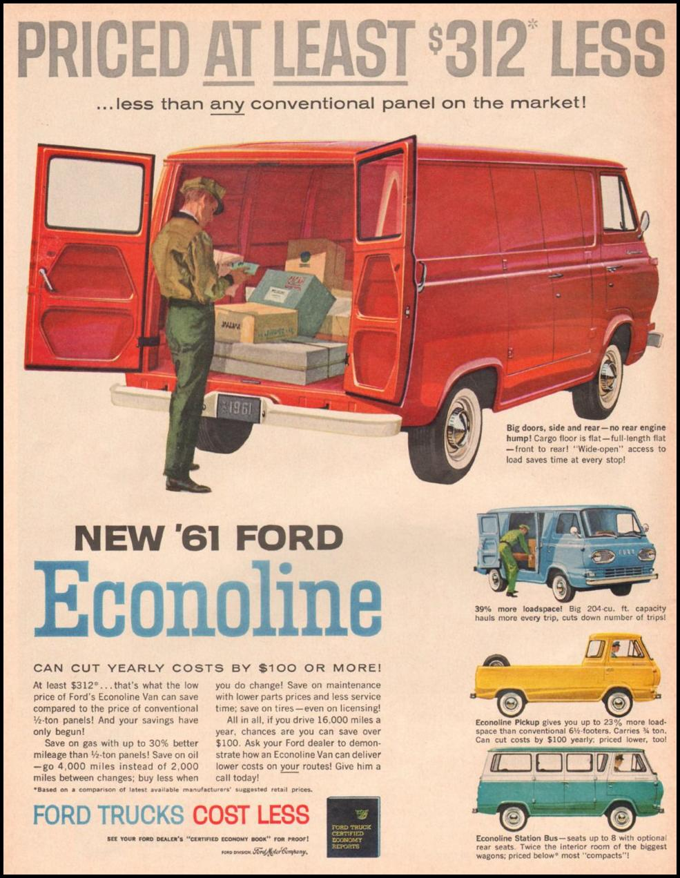 Ford Trucks Cost Less 1961 Econoline Pickup Truck Life 05