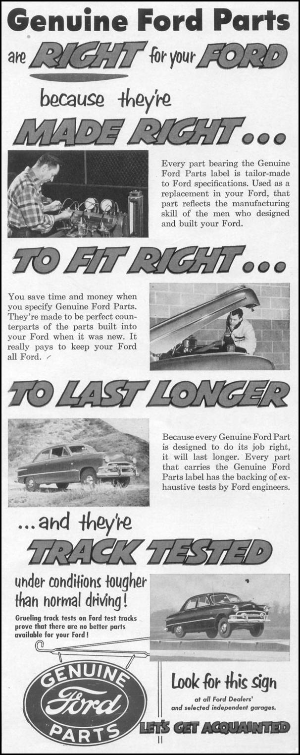 FORD AUTOMOBILE PARTS LIFE 10/13/1952 p. 11