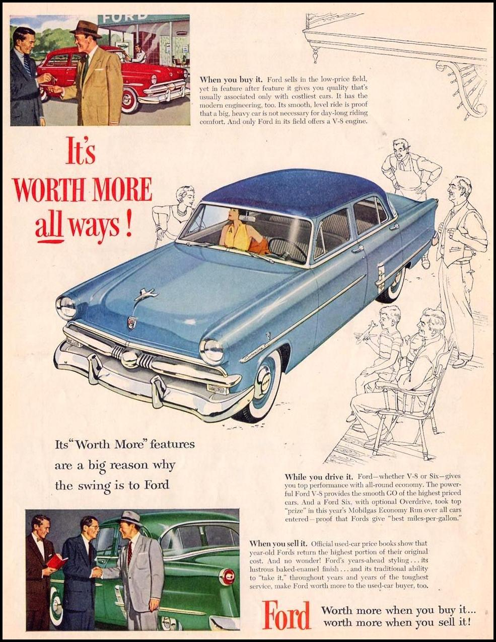 FORD AUTOMOBILES LIFE 10/19/1953 p. 32