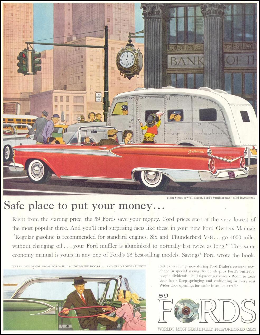 FORD AUTOMOBILES SATURDAY EVENING POST 05/02/1959