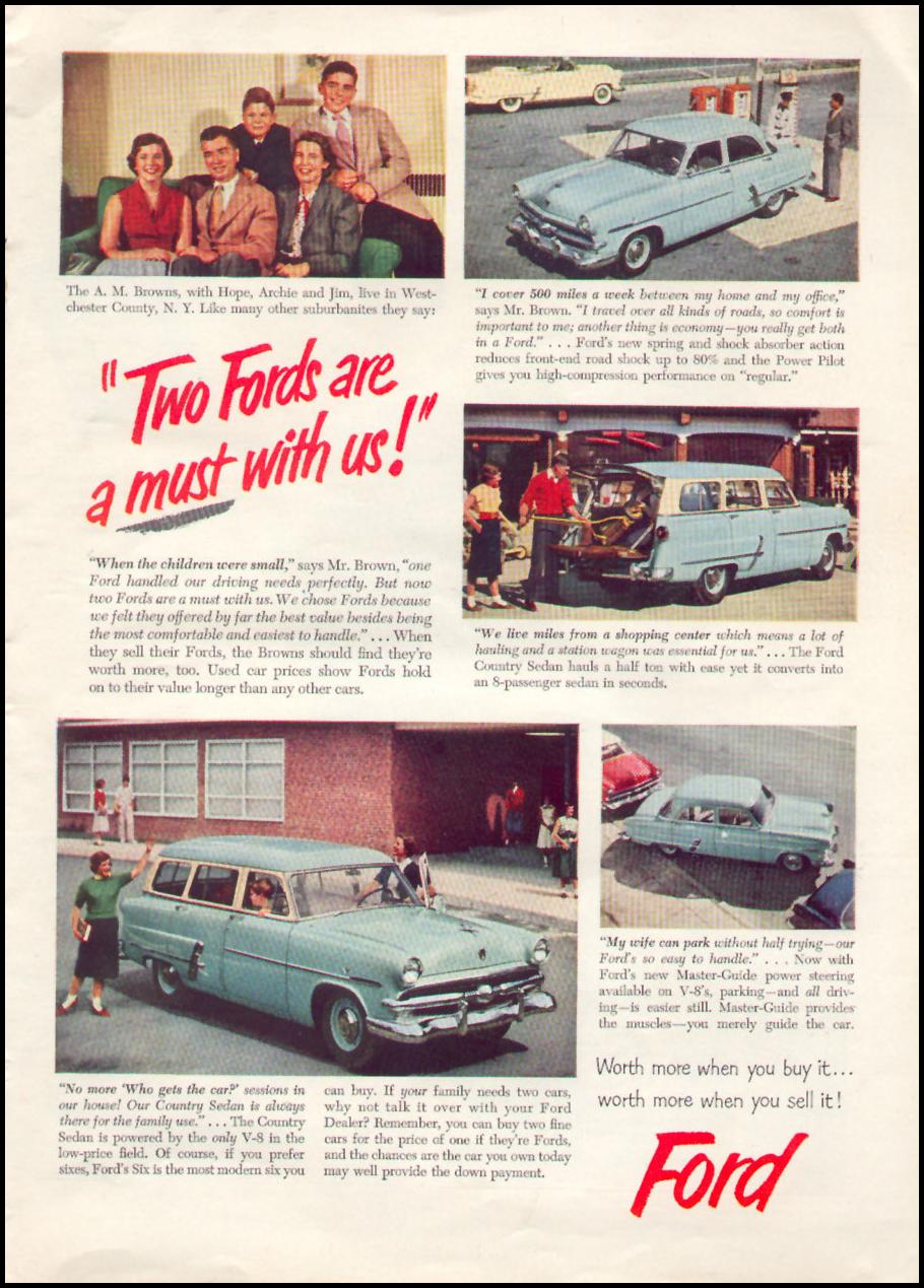 FORD AUTOMOBILES TIME 08/31/1953 p. 43