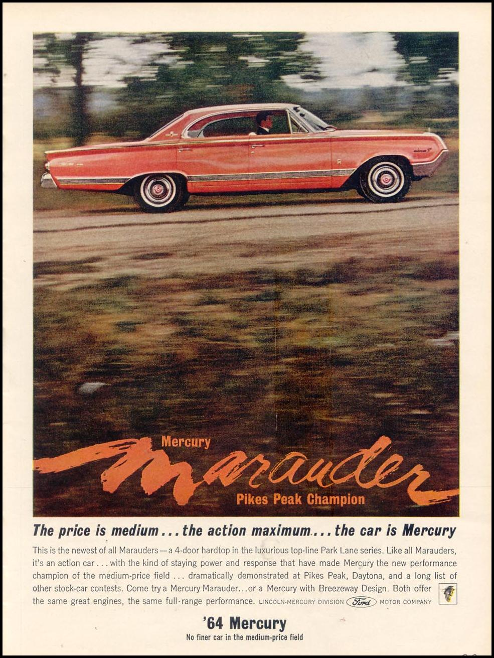 MERCURY AUTOMOBILES TIME 10/25/1963 p. 37