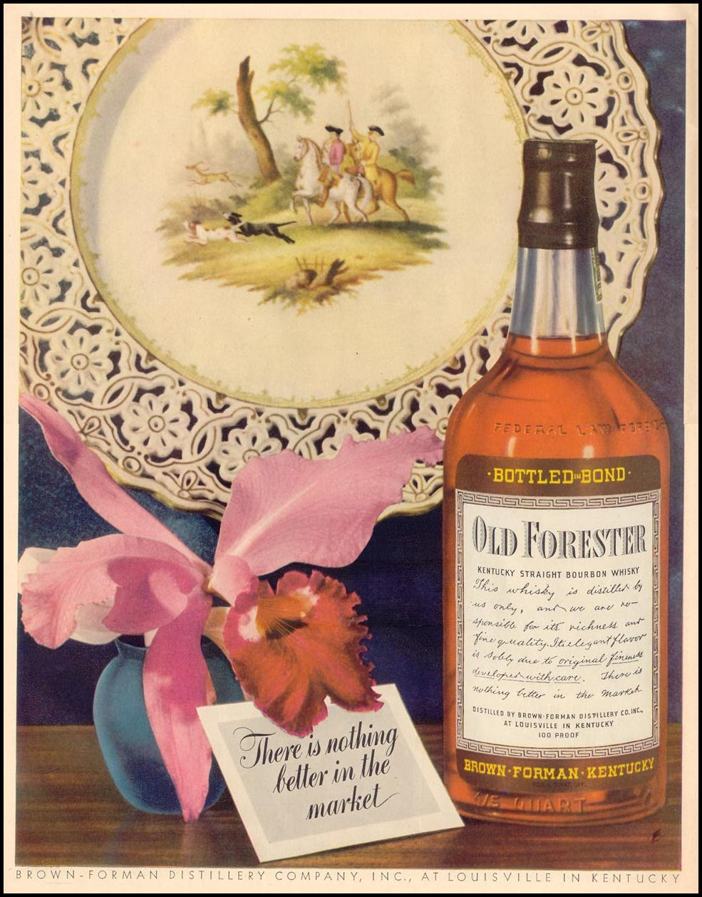 OLD FORESTER BOURBON WHISKY LIFE 11/08/1943