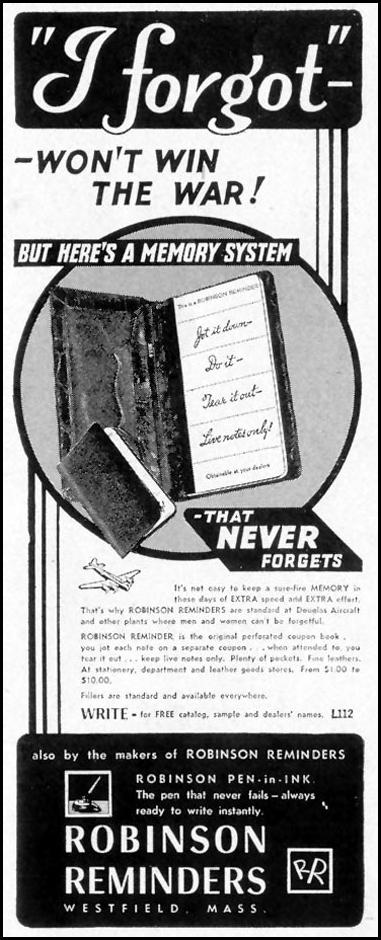 ROBINSON REMINDERS LIFE 11/08/1943 p. 113