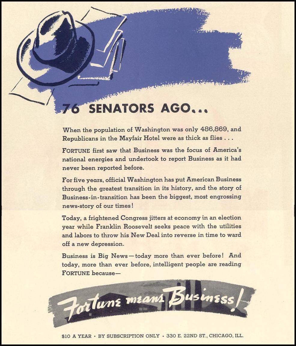 FORTUNE MAGAZINE LIFE 12/27/1937