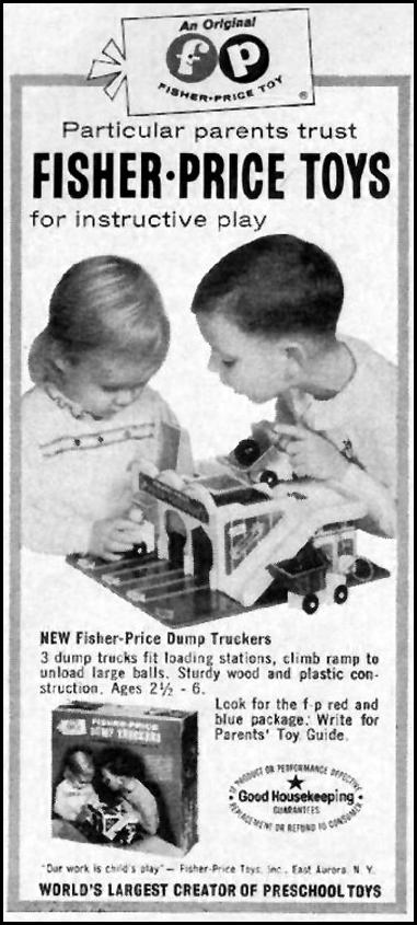 FISHER-PRICE TOYS GOOD HOUSEKEEPING 10/01/1965 p. 248