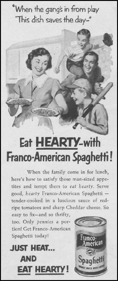 FRANCO-AMERICAN SPAGHETTI LIFE 07/02/1951 p. 26