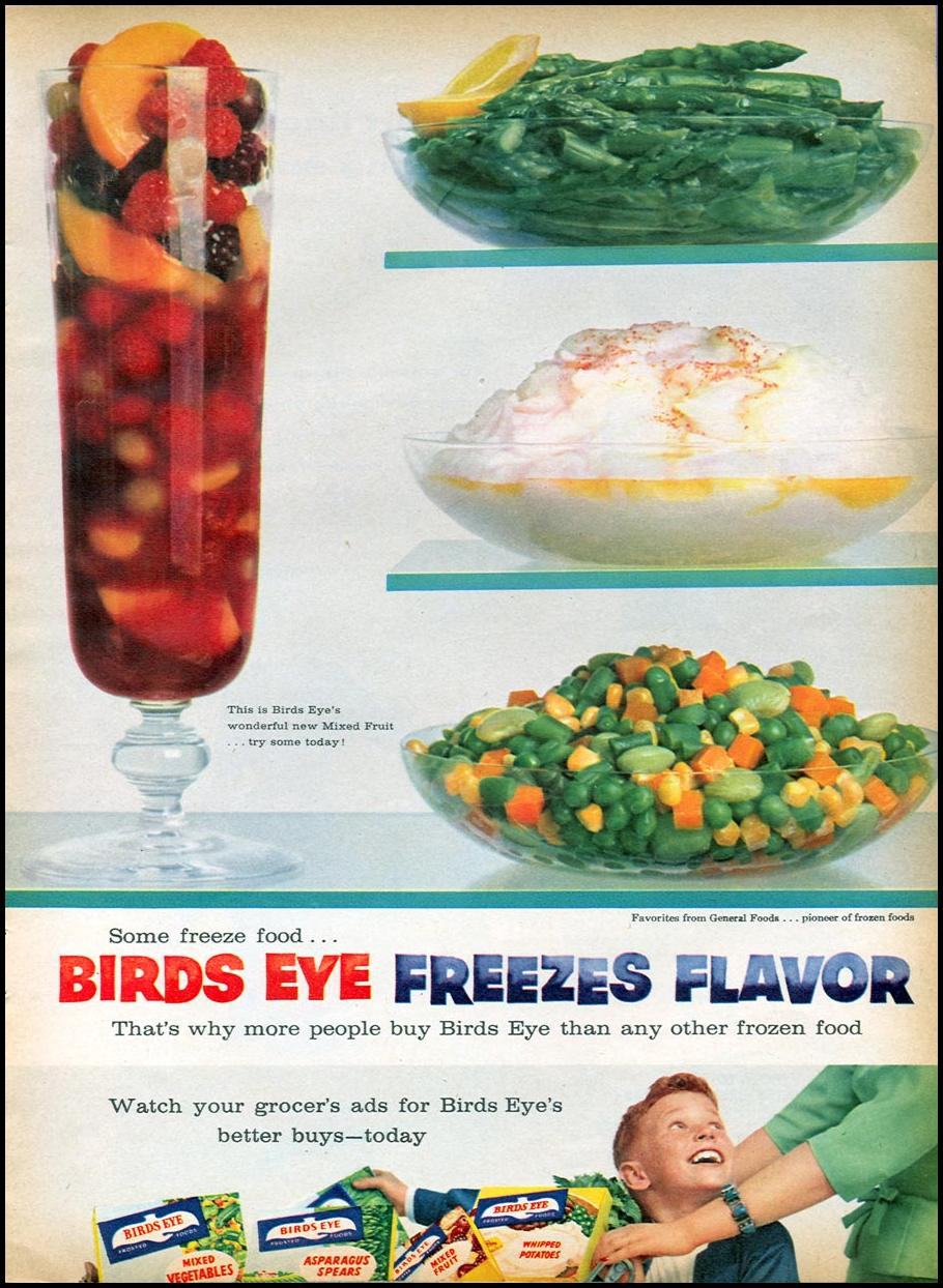 BIRDS EYE FROZEN FOODS FAMILY CIRCLE 11/01/1957 p. 54