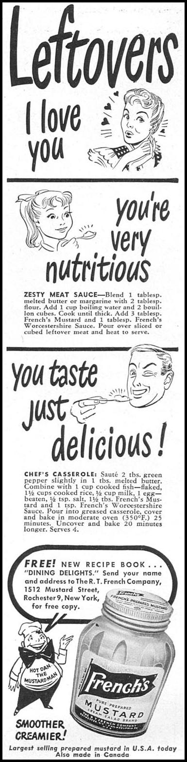 FRENCH'S PREPARED MUSTARD WOMAN'S DAY 04/01/1949 p. 95