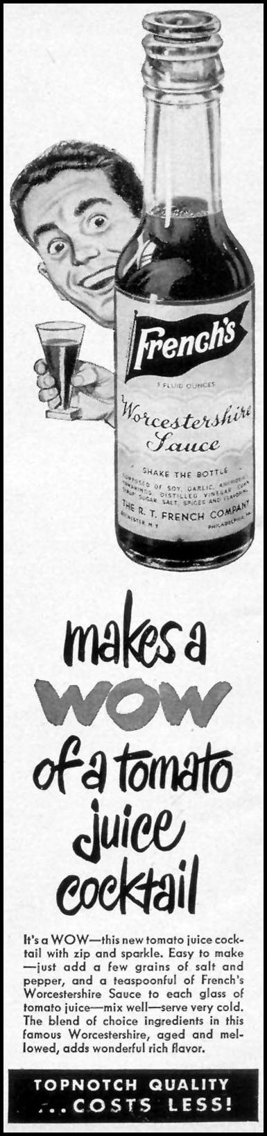FRENCH'S WORCESTERSHIRE SAUCE WOMAN'S DAY 05/01/1946 p. 24