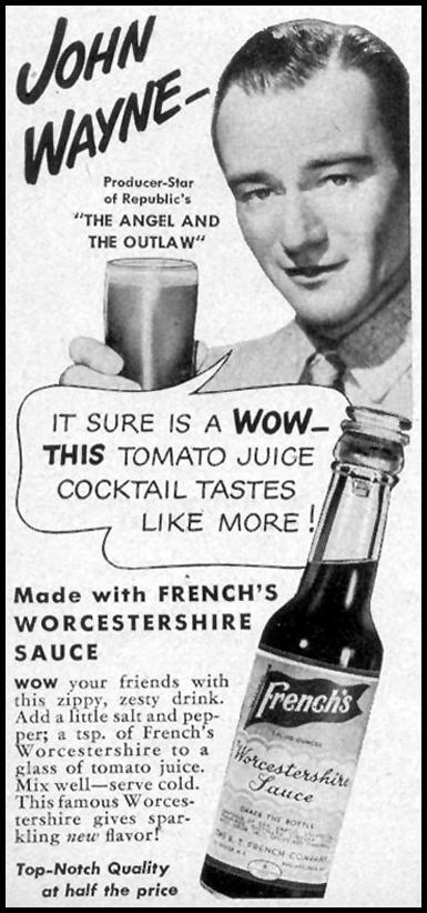 FRENCH'S WORCESTERSHIRE SAUCE WOMAN'S DAY 09/01/1946 p. 64