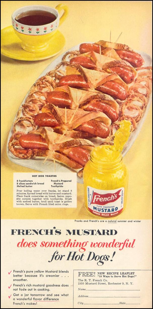 FRENCH'S PREPARED MUSTARD WOMAN'S DAY 03/01/1954 p. 101