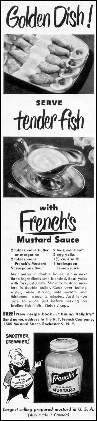 FRENCH'S PREPARED MUSTARD WOMAN'S DAY 05/01/1950 p. 82