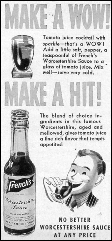 FRENCH'S WORCESTERSHIRE SAUCE WOMAN'S DAY 09/01/1947 p. 119