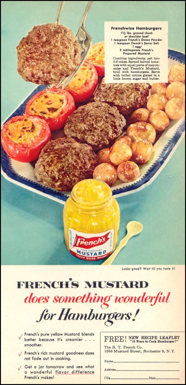 FRENCH'S PREPARED MUSTARD WOMAN'S DAY 10/01/1954 p. 25