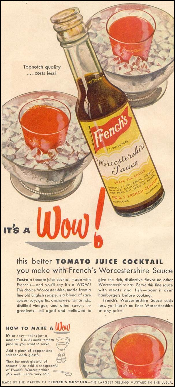 FRENCH'S WORCESTERSHIRE SAUCE GOOD HOUSEKEEPING 07/01/1949 p. 91
