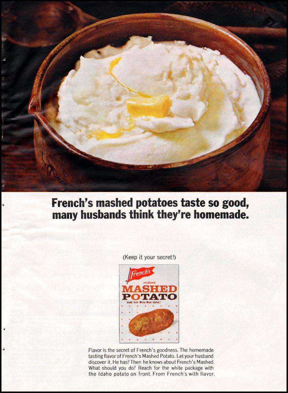 FRENCH'S INSTANT MASHED POTATO GOOD HOUSEKEEPING 10/01/1965 p. 57