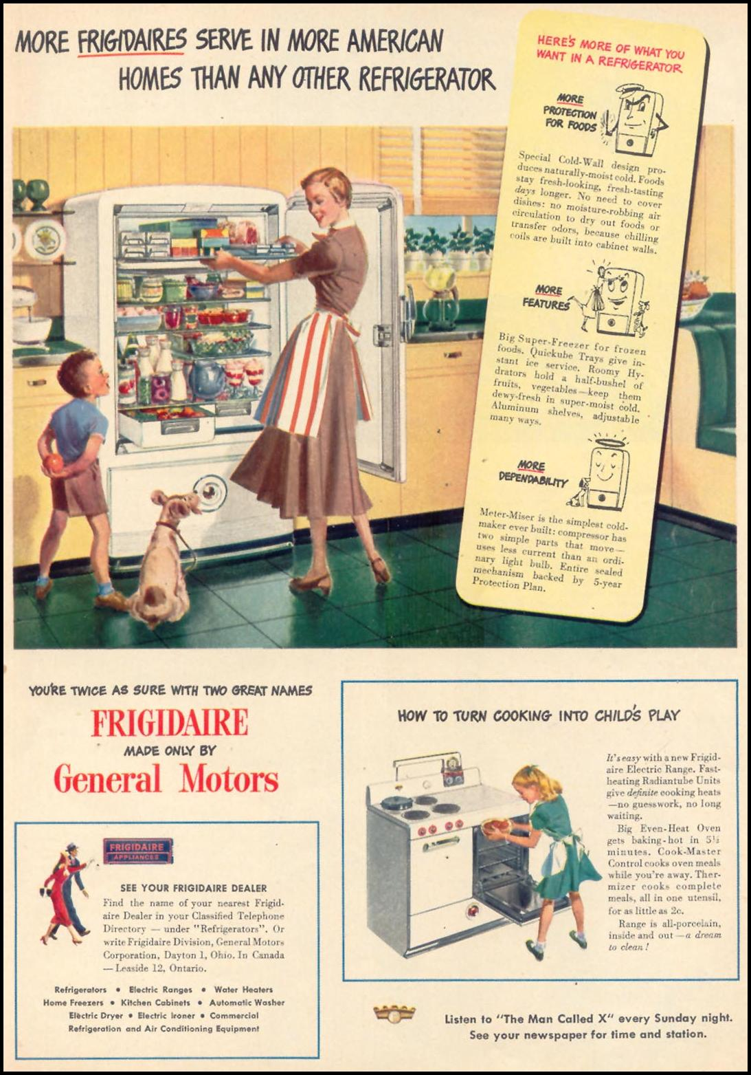 FRIGIDAIRE REFRIGERATORS WOMAN'S DAY 03/01/1948 p. 23