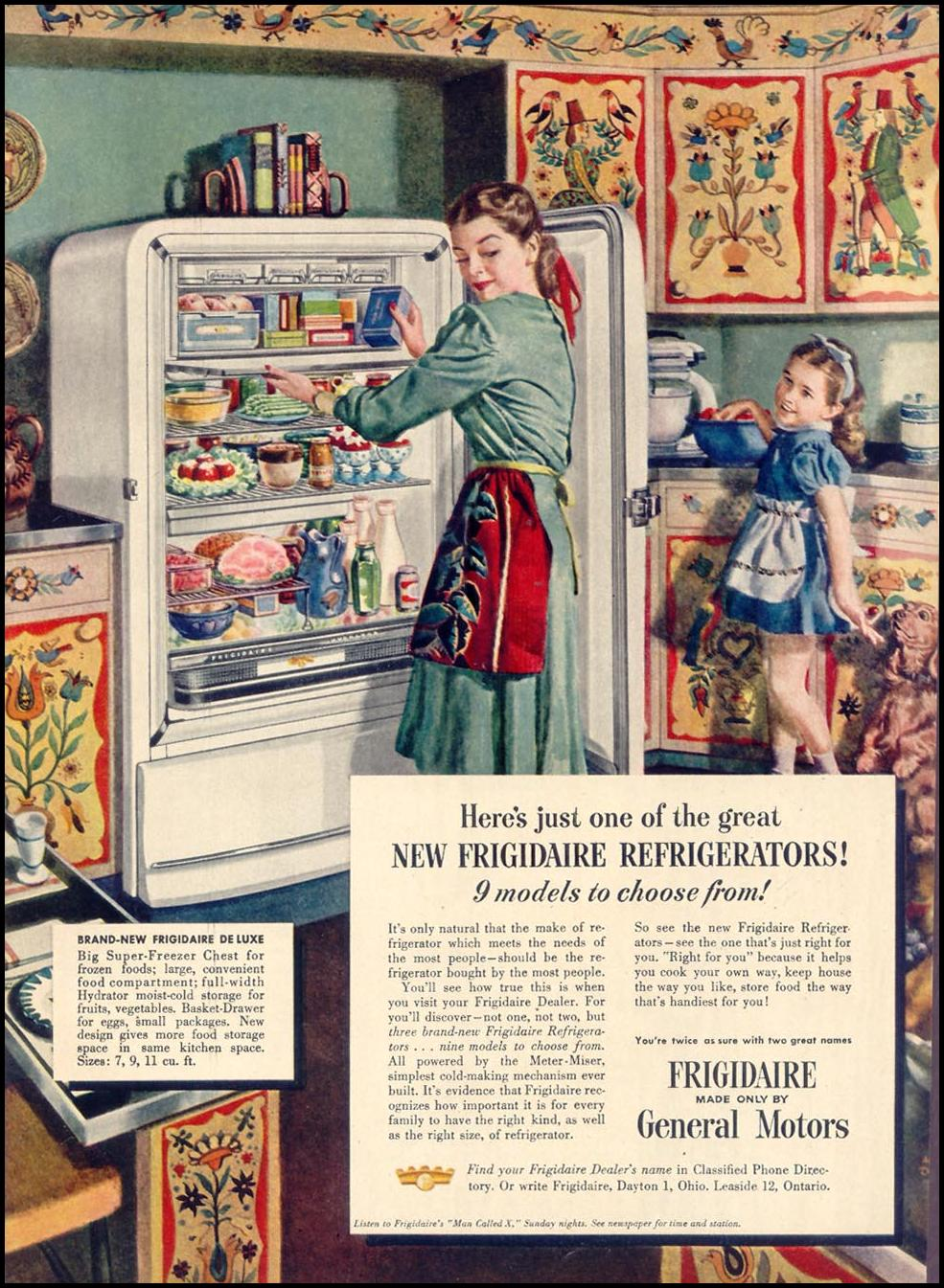 FRIGIDAIRE REFRIGERATORS WOMAN'S DAY 08/01/1948 p. 12