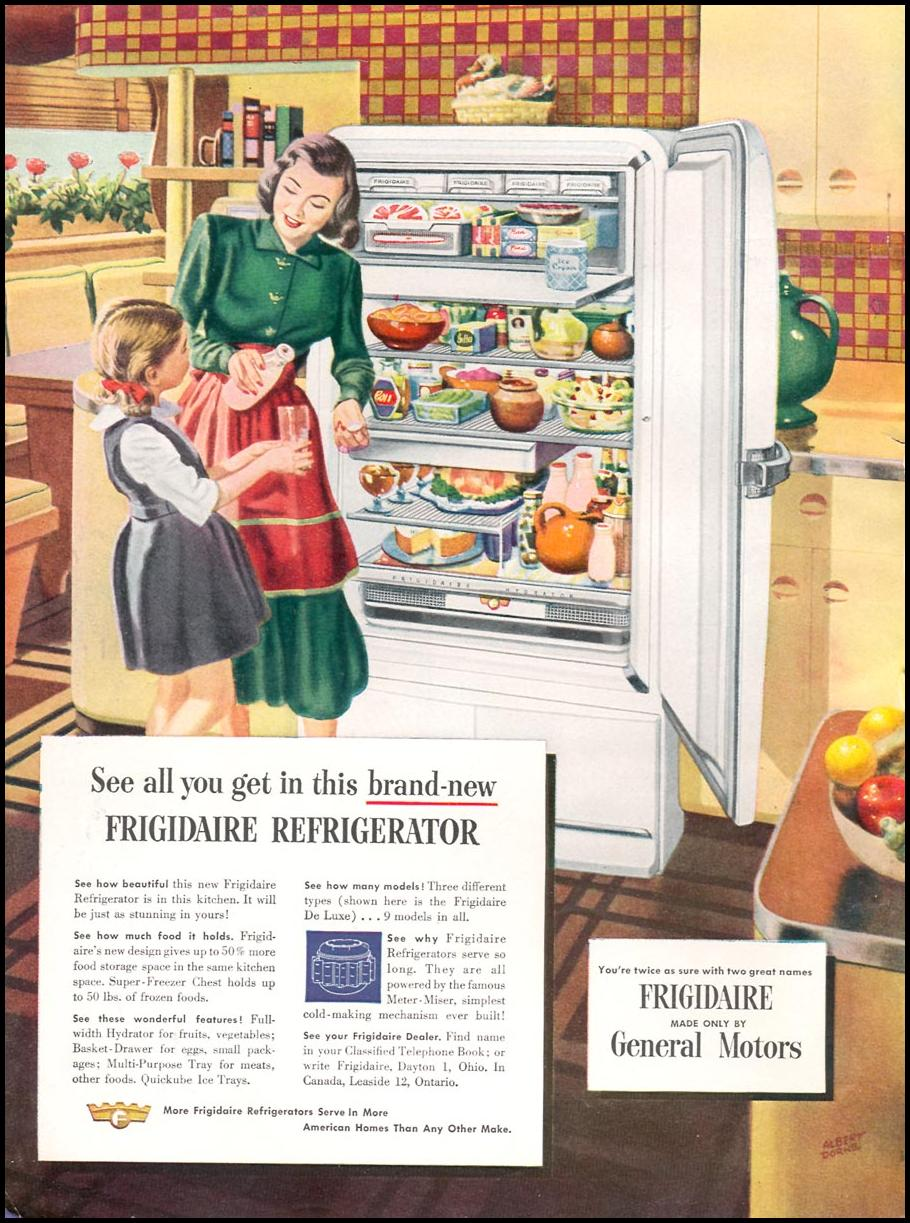 FRIGIDAIRE REFRIGERATOR WOMAN'S DAY 10/01/1948 INSIDE FRONT