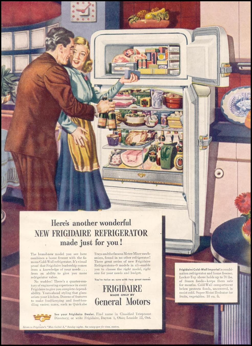 FRIGIDAIRE REFRIGERATORS GOOD HOUSEKEEPING 07/01/1948 p. 133