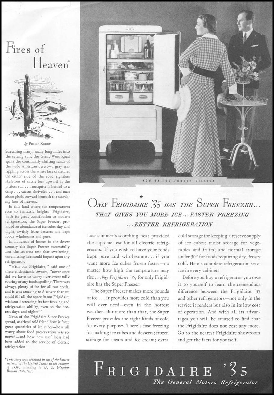 FRIGIDAIRE REFRIGERATORS GOOD HOUSEKEEPING 06/01/1935 p. 111