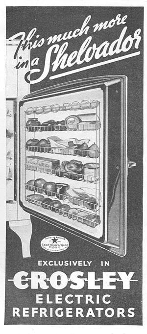 CROSLEY ELECTRIC REFRIGERATORS GOOD HOUSEKEEPING 06/01/1935 p. 198