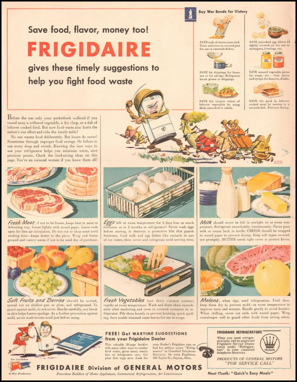 FRIGIDAIRE REFRIGERATORS LIFE 08/09/1943