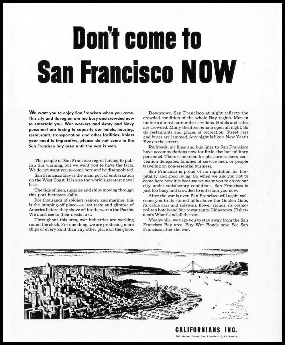 TRAVEL TO SAN FRANCISCO LIFE 02/28/1944 p. 105