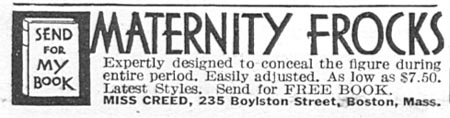 MATERNITY FROCKS GOOD HOUSEKEEPING 12/01/1933 p. 184