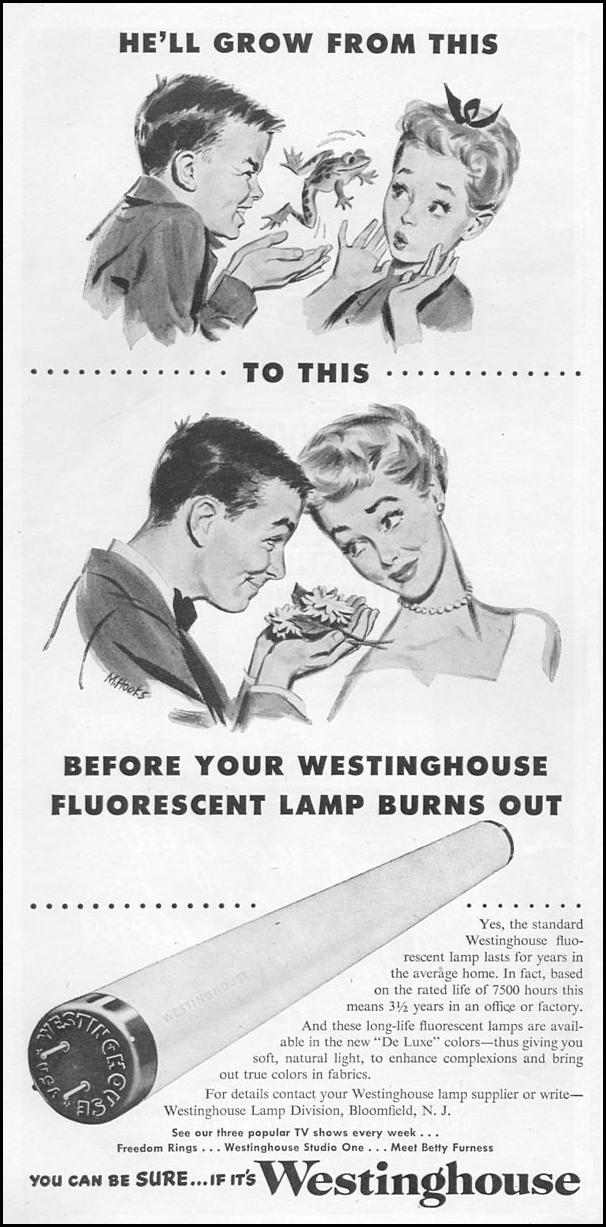 WESTINGHOUSE FLUORESCENT LAMPS TIME 06/08/1953 p. 58