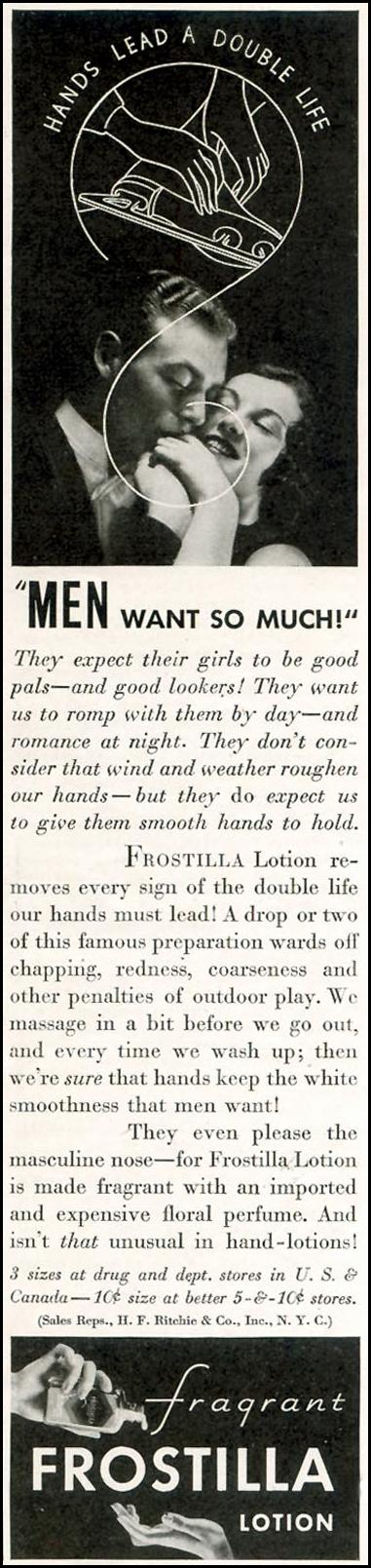 FROSTILLA LOTION GOOD HOUSEKEEPING 11/01/1933 p. 226